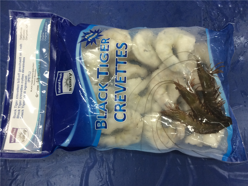 Black Tiger Shrimps  (PD) - Natural Fresh - Sunny Brand
