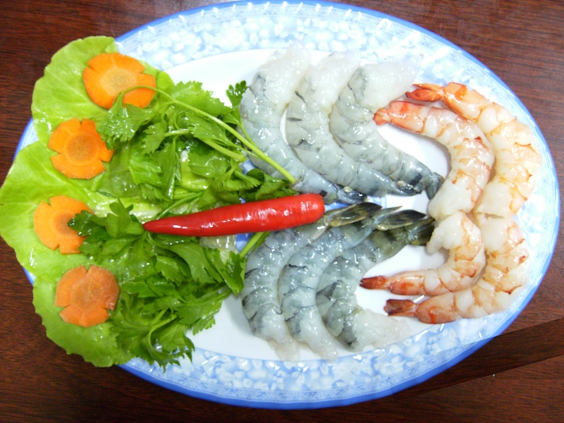 PD Black Tiger Shrimp Raw & Cooked